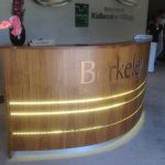 Reception desk made for office of a national builder in London