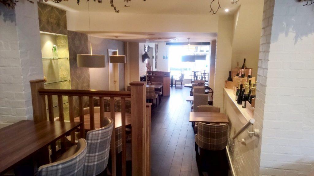 Oak Balustrade to Oak Stairs in Shropshire Champagne Bar