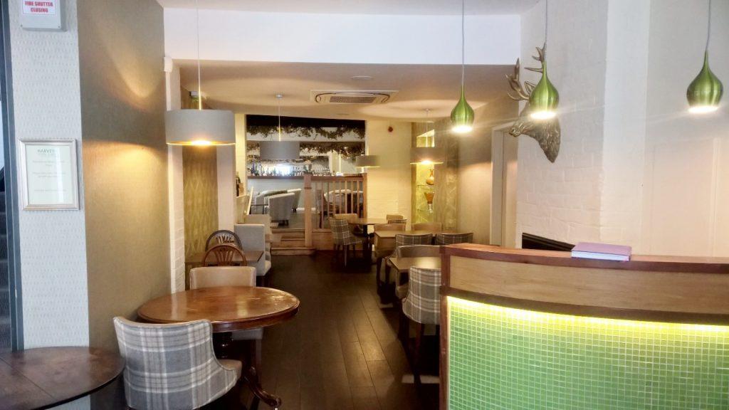 Restaurant Oak Floor, Steps and Lighting