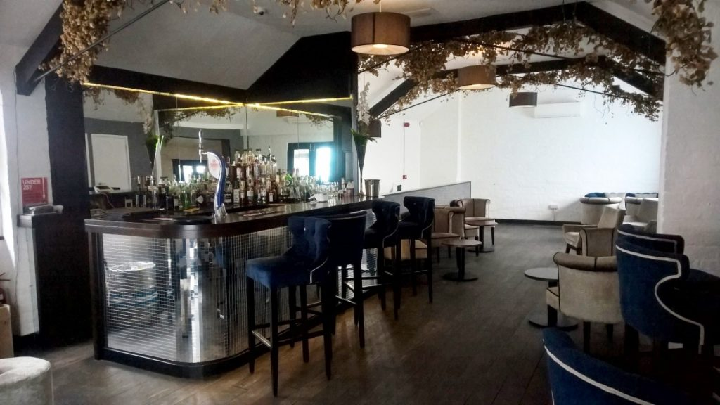 Shrewsbury Cocktail Bar Interior Fit Out with Oak Flooring