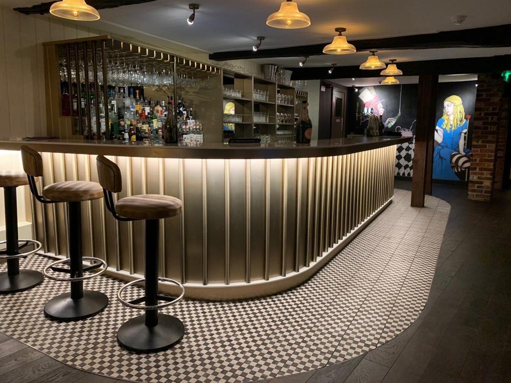 Custom Bar and Wine Glass Holders in Shrewsbury Champagne Bar